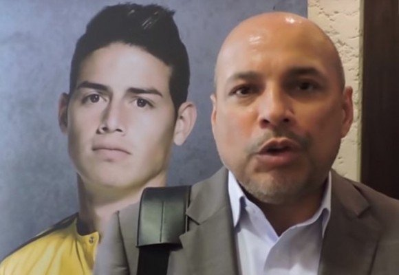 Juan Carlos Restrepo, el padrastro al que James le regalará equipo de fútbol