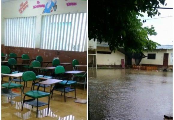 Estudiantes en El Bagre tienen que huir cada vez que llueve