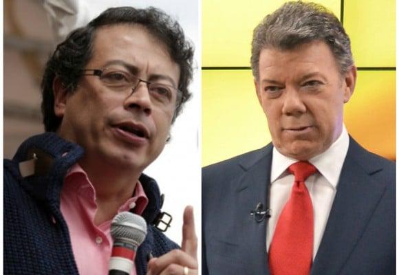 """""""El saldo de mi cuenta es $1.500.000. Es mi regalo al presidente Santos"""" Petro"""