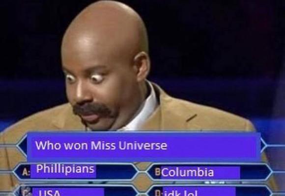 Los mejores memes por la embarrada en Miss Universo
