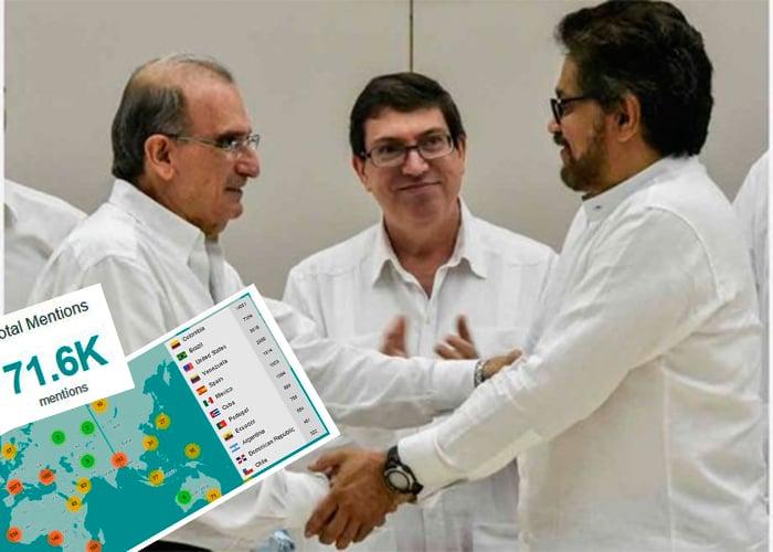 El proceso de paz, ¿qué piensan los colombianos en redes sociales?