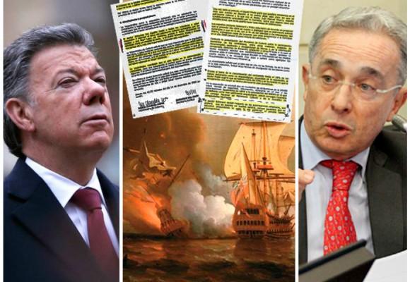 Las actas secretas de Uribe y Santos sobre el galeón San José