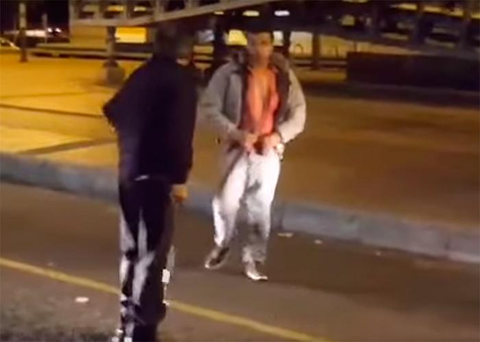 En video: A machete se fueron estos taxistas en el norte de Bogotá