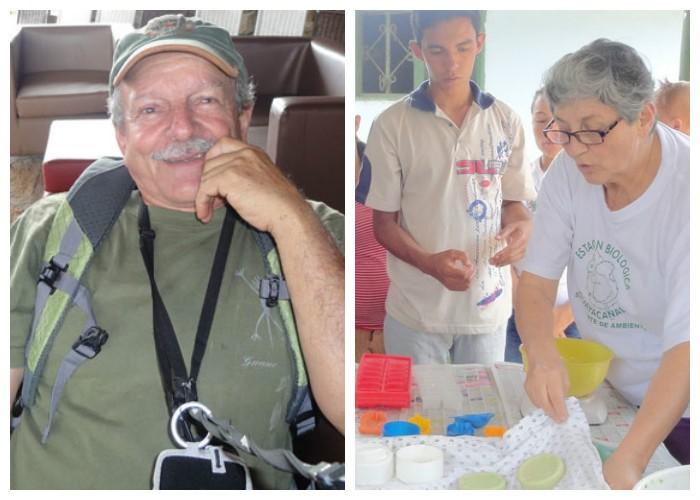 Germán Camargo y Patricia, se han convertido en guías para las campesinas de Los Santos (Santander)