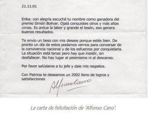 CARTA ALFONSO CANO