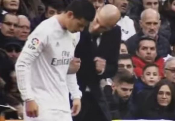 En video: la groseria de James a Zinedine Zidane