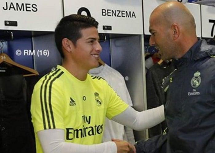 Zidane no quiere ver ni en pintura a James Rodríguez