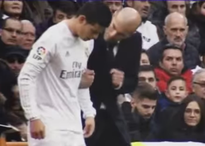 En video: la groseria de James a Zinedine Zidane