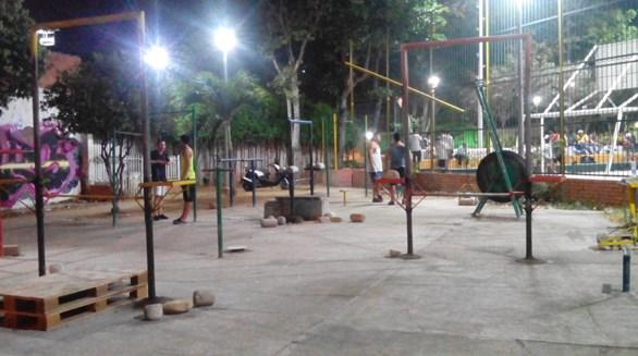 Asi lucía un parque convencional el 7 de enero, día  en el cual la ciudad estaba muy sola.