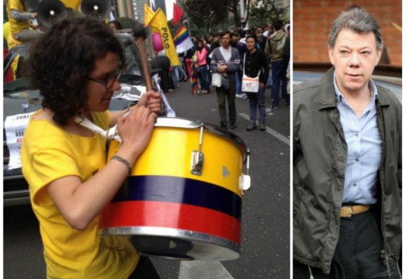 Sara Abril, la estudiante que le armó el tropel al presidente Santos
