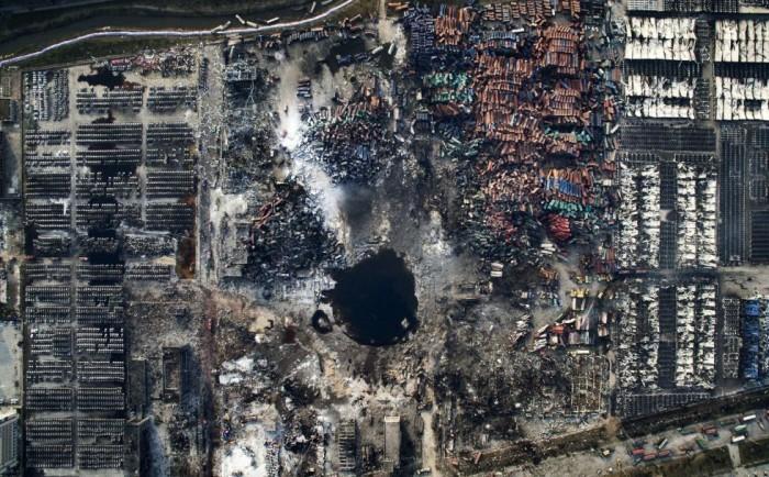 Imagen ganadora del tercer premio de la categoría de noticias de actualidad, tomada por el fotógrafo chino Chen Jie. La fotografía muestra una vista aérea de la destrucción causada por la explosión de Tianjin (China) el 15 de agosto de 2015. CHEN JIE