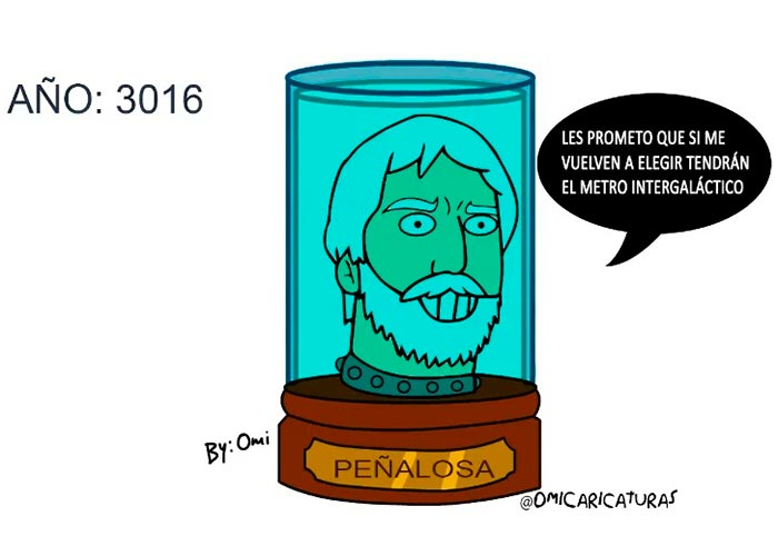Caricatura: Bogotá en el 3016