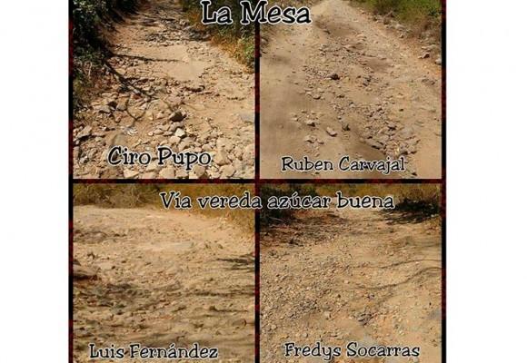 El mal estado de las vías en La Mesa, Valledupar