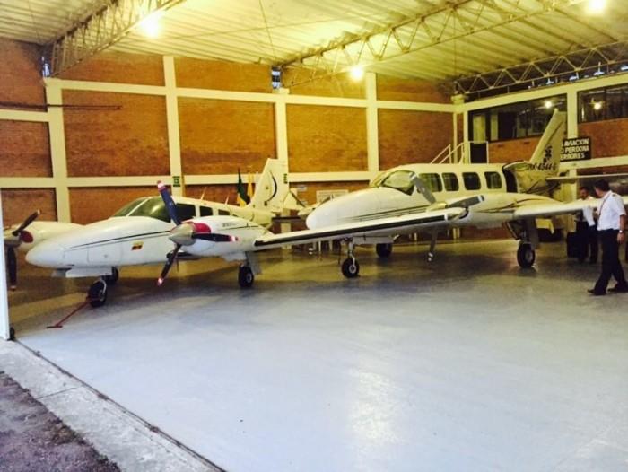 Las avionetas parten desde el aeropuerto El Caraño