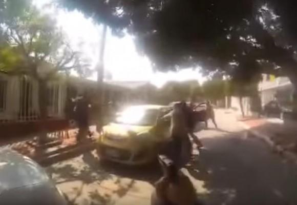 En video: balacera grabada en GoPro entre Policía y delincuentes en Barranquilla