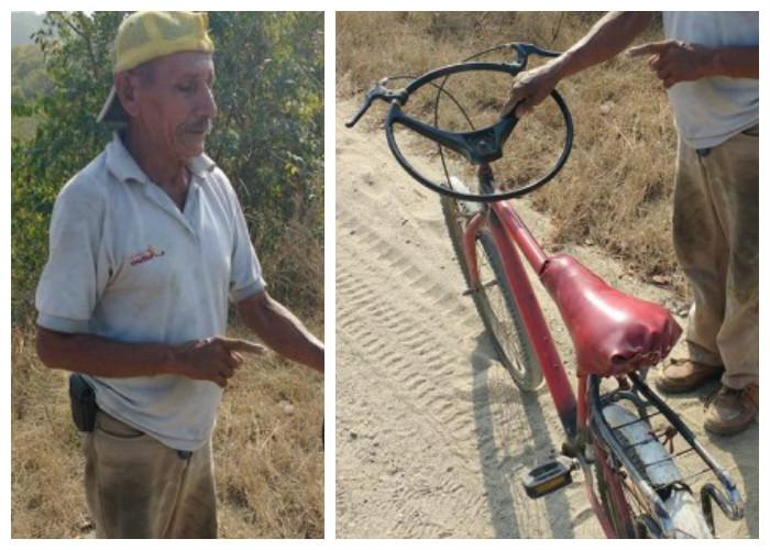 Bicicarro: un extraño vehículo en los Montes de María