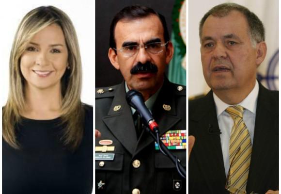 El 'ménage à trois' entre Vicky Dávila, el exgeneral Palomino y el Procurador Ordóñez