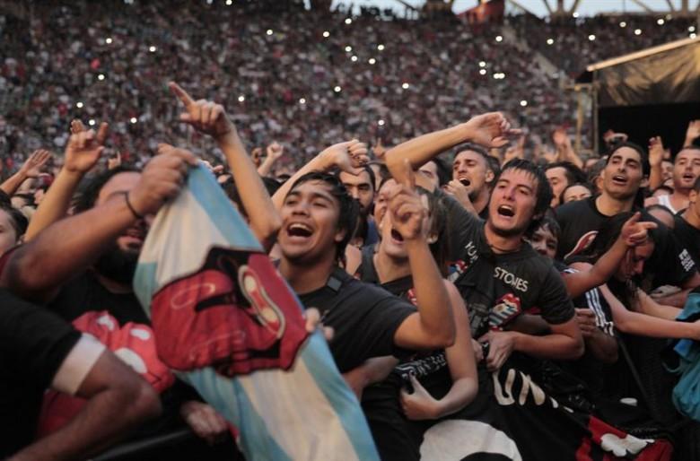 Video: Caos en el concierto de los Rolling Stones en Argentina
