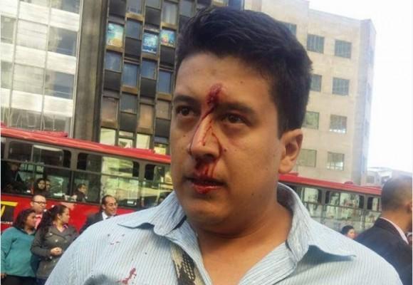 A golpes, ESMAD agredió a funcionarios de juzgados en Bogotá