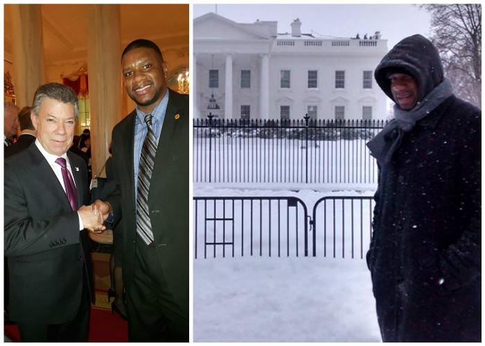 El afro colombiano que a punta de tweets logró que lo invitaran a la Casa Blanca