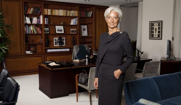 Lagarde en su oficina en la sede principal del FMI en Washington, Estados Unidos.