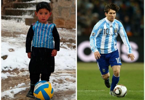 El niño afgano que cautivó con la 10 de Messi