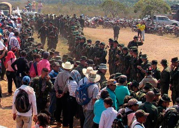 La foto oficial de las Farc sobre lo sucedido en La Guajira