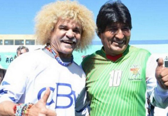 El Pibe Valderrama apoya reelección de Evo Morales