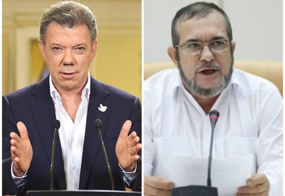 """""""Lo que se firme en La Habana lo someteré a plebiscito, les guste o no a las FARC"""": Santos"""