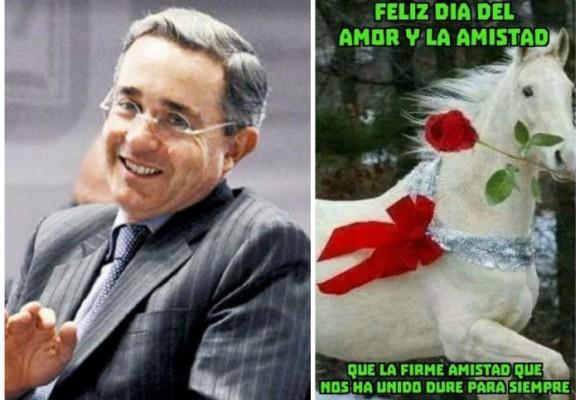 El cursi trino de Uribe en San Valentín