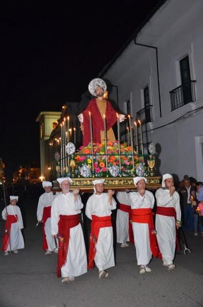 Paso del San Pedro, que desfila en la procesión del sábado santo / Fotografía suministrada.