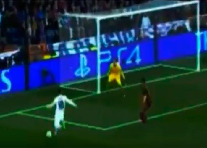 James y su golazo de túnel en la UEFA Champions League