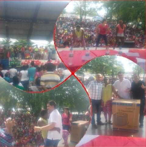 El congresista Bedoya (imágenes inferiores) en Carepa. Fuente: Fundación Paz y Reconciliación