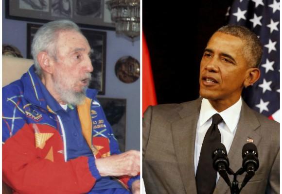 """""""No necesitamos que el imperio nos regale nada"""": Fidel arremete contra Obama"""