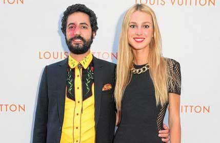 Con su esposa la argentina Nieves Zuberbühler