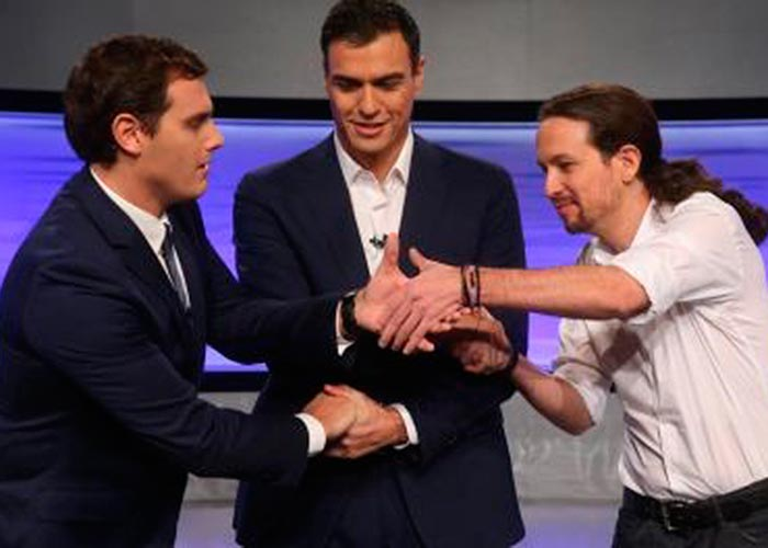 Tres jóvenes  lograron el revolcón exprés de la política española
