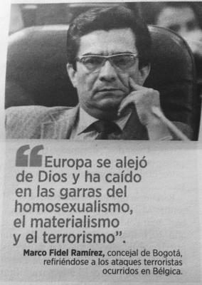(Foto tomada del diario El Espectador, jueves 24 de marzo de 2016)