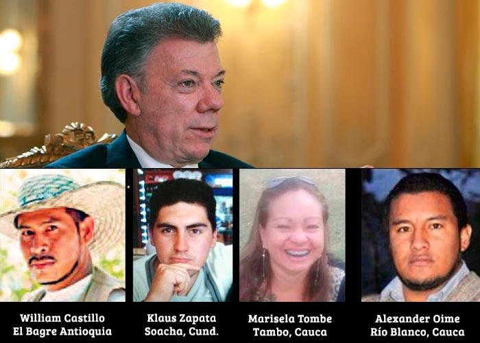 """""""Presidente Santos, de usted depende que no nos sigan matando"""""""