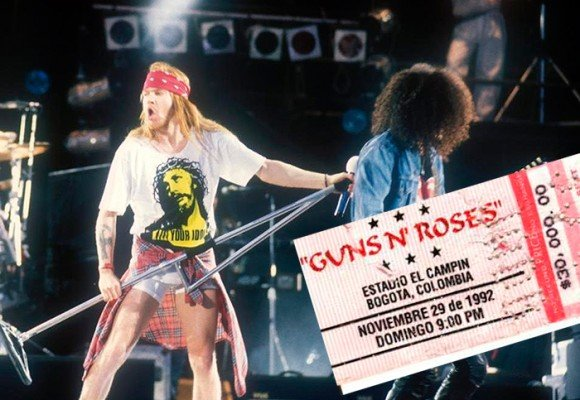 La noche en que Guns N Roses destruyó a Bogotá