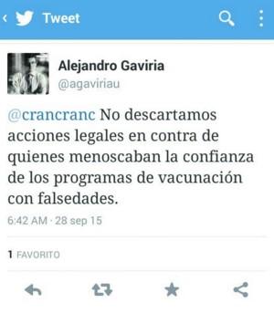 Twitter Gaviria