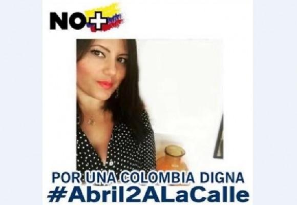 La joven que le organizó la marcha a Uribe en Medellín