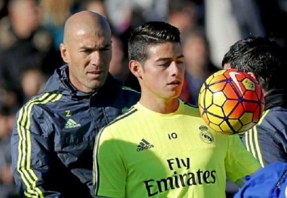 La bronca que Zidane le tiene a James