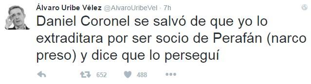 Imagen vía Twitter @AlvaroUribeVel