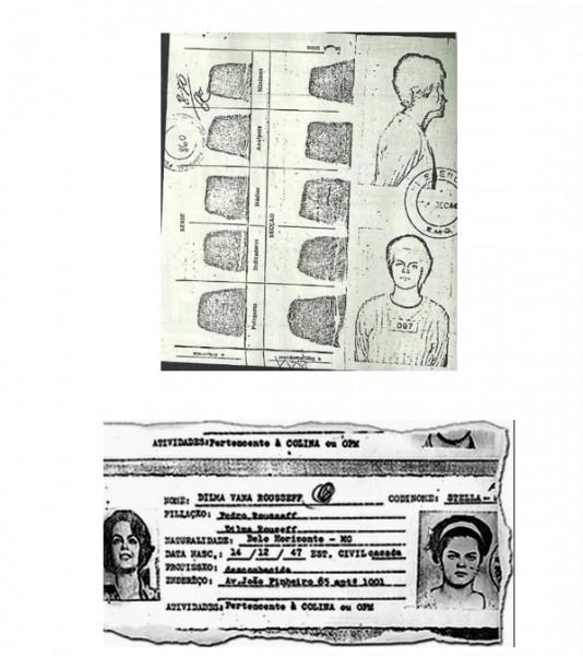 Las fotografías y huellas de Dilma cuando fue detenida por el Ejército en São Paulo