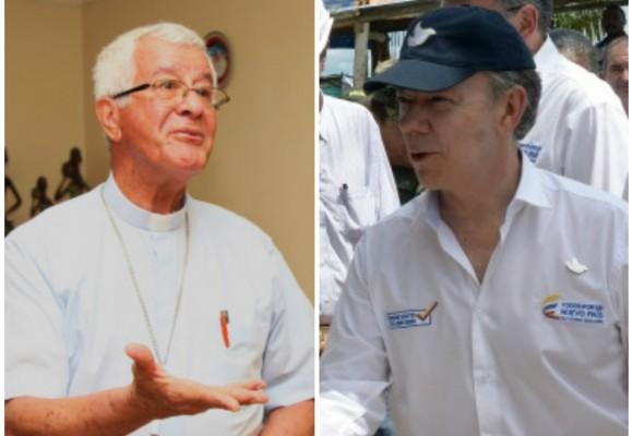 El vainazo del Obispo de Buenaventura al Presidente Santos