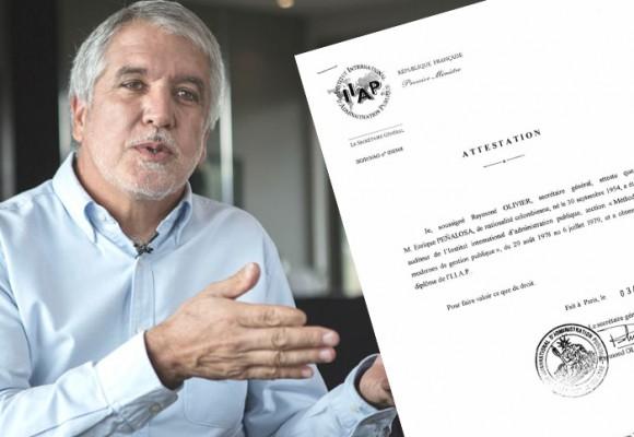 Otro título académico del Alcalde Peñalosa en entredicho
