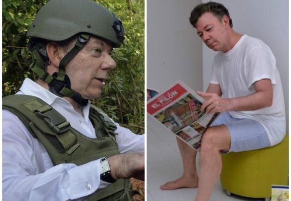 Las fotos más ridículas del presidente Santos
