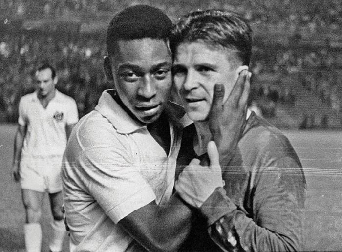 Puskás con Pelé