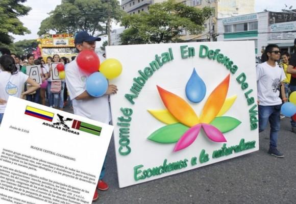 Águilas Negras declaran objetivo militar a líderes del Tolima