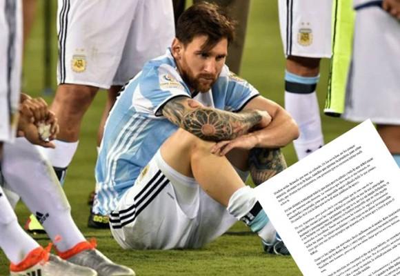 Carta abierta a Lionel Messi